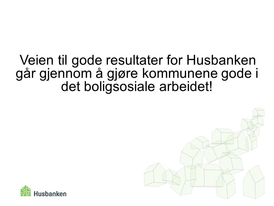 Veien til gode resultater for Husbanken går gjennom å gjøre kommunene gode i det boligsosiale arbeidet!
