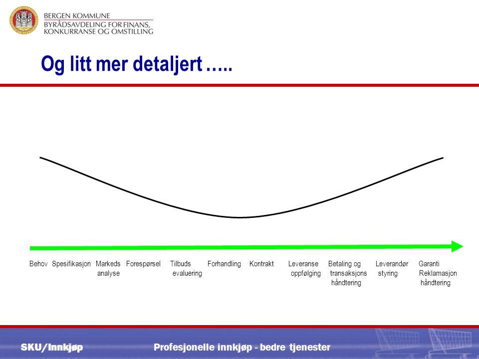 SKU/Innkjøp Profesjonelle innkjøp - bedre tjenester Og litt mer detaljert …..