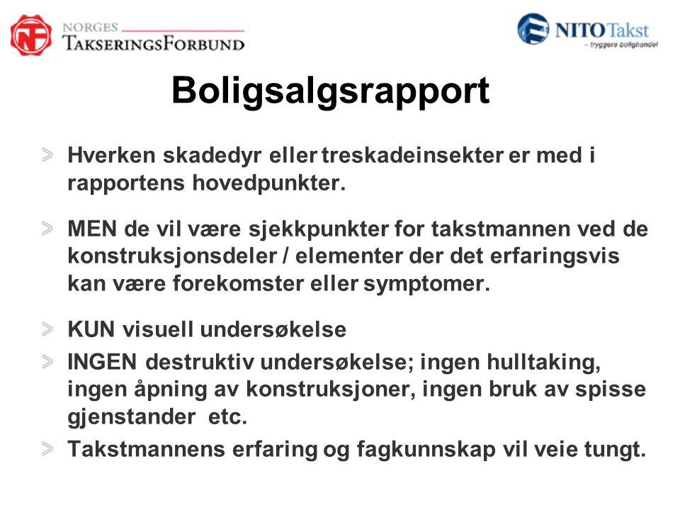 Boligsalgsrapport FREMTID: Ny takstlov; Signaler om mer bruk av grundigere tilstandsrapporter / Boligsalgsrapporter.