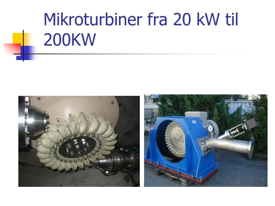 Mikroturbiner fra 20 kW til 200KW