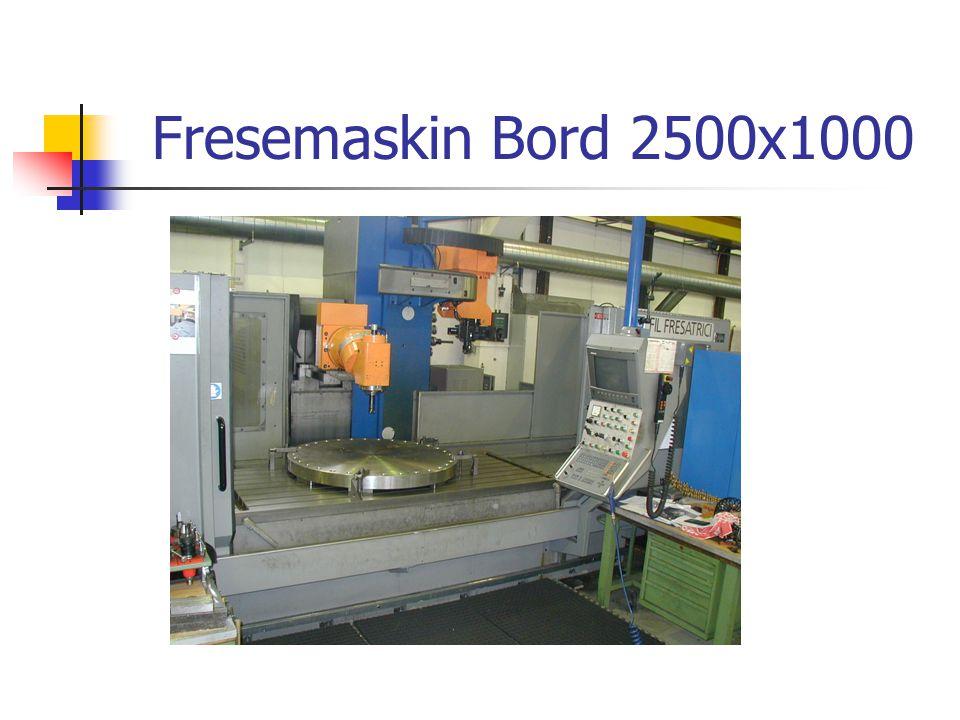 Fresemaskin Bord 2500x1000