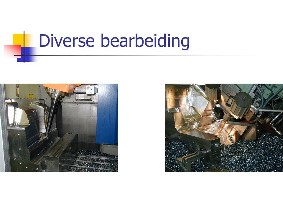 Diverse bearbeiding