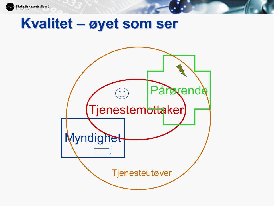 10 Kvalitet – øyet som ser Myndighet Tjenestemottaker Pårørende Tjenesteutøver