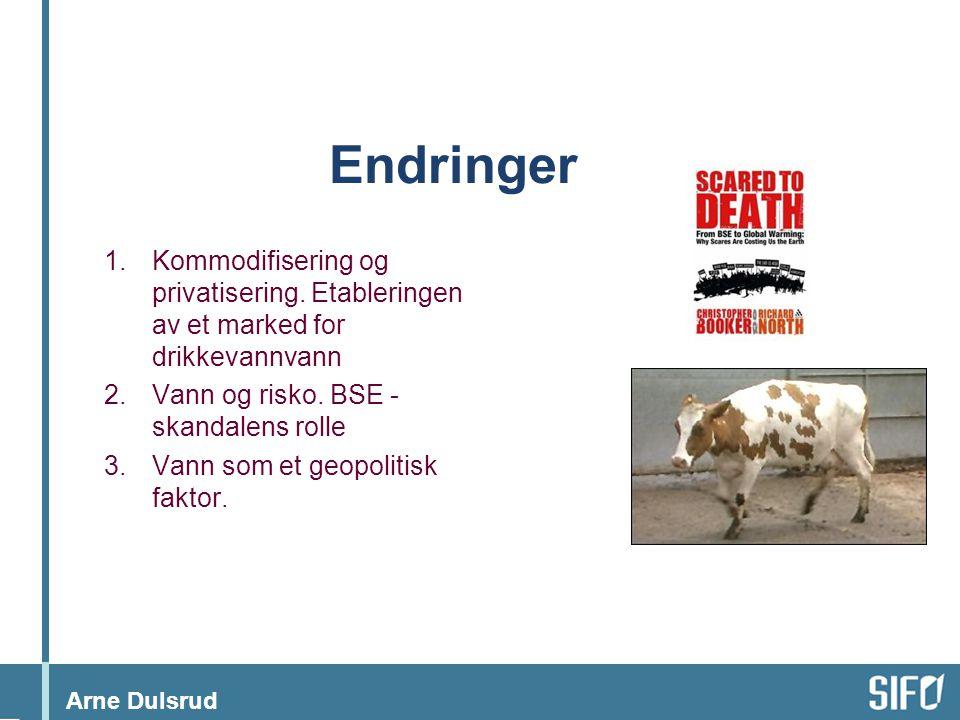 Arne Dulsrud Endringer 1.Kommodifisering og privatisering.