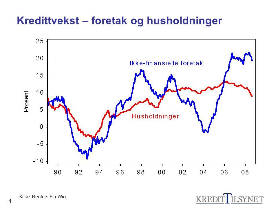 25 Noen grunner til at vi kan unngå krise (2) •Norske banker har solid egenkapital.