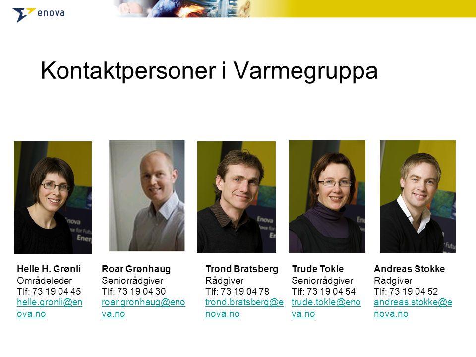 Kontaktpersoner i Varmegruppa Helle H.