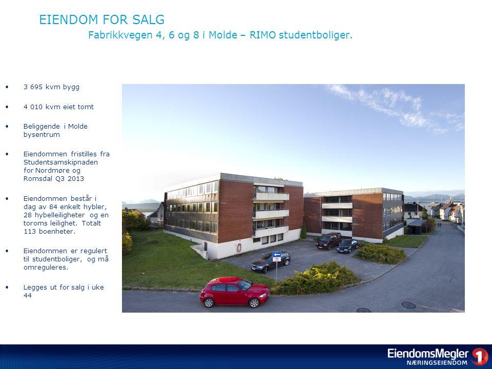 EIENDOM FOR SALG Fabrikkvegen 4, 6 og 8 i Molde – RIMO studentboliger.