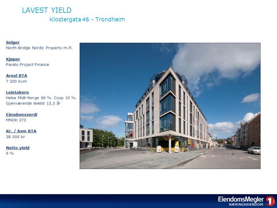 LAVEST YIELD Klostergata 46 - Trondheim Selger North Bridge Nordic Property m.fl.