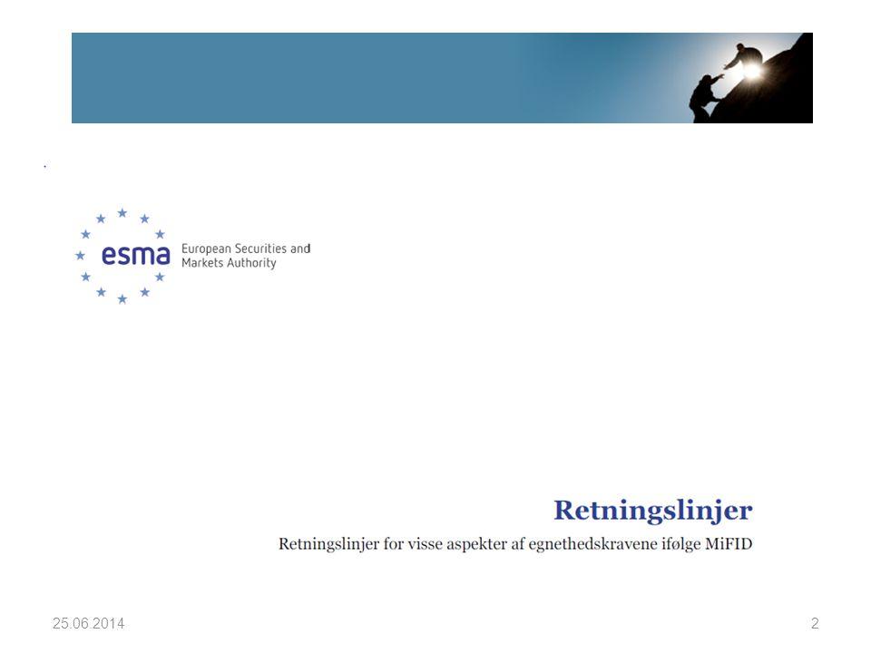 ESMA (EUs verdipapirtilsyn) publiserte 6.