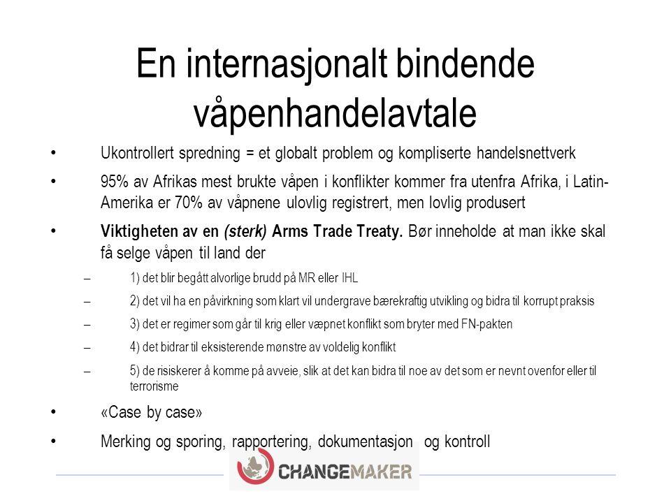 Norsk våpeneksport: Hva har Changemaker gjort tidligere.