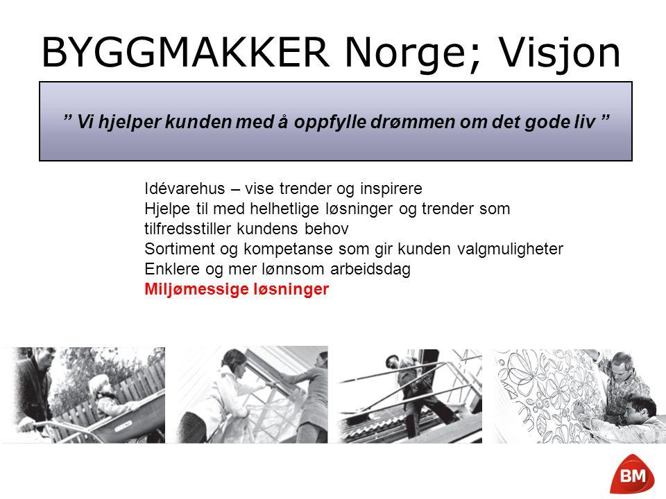 """Copyright © 2008 Byggmakker Norge AS BYGGMAKKER Norge; Visjon """" Vi hjelper kunden med å oppfylle drømmen om det gode liv """" Idévarehus – vise trender o"""