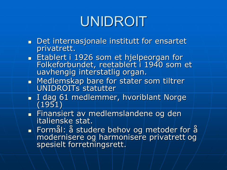 Unidroit-konvensjonen Baserer seg på  UNESCO-konvensjonen 1970  Rådsdirektiv 93/7/EØF av 1993 Offisiell norsk oversettelse: St.prp.