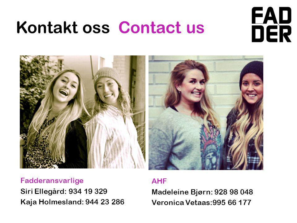AIR Jonny Solbjør: 951 42 611 Caroline Overvåg: 930 91 530 AIM Beate C.