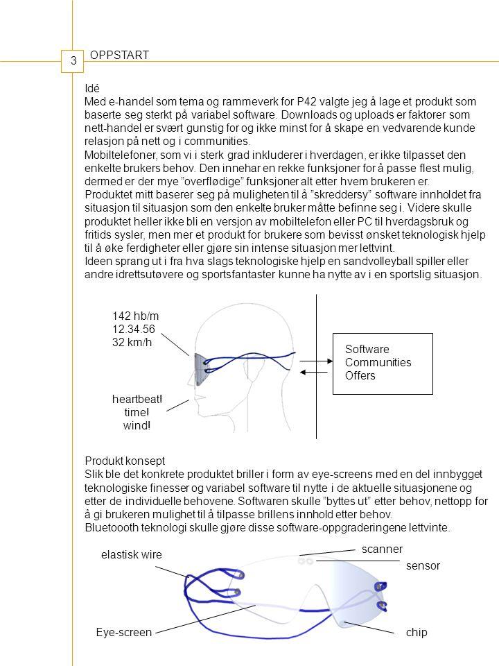 3 Idé Med e-handel som tema og rammeverk for P42 valgte jeg å lage et produkt som baserte seg sterkt på variabel software.