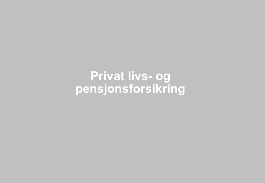 Side 42 Privat livs- og pensjonsforsikring
