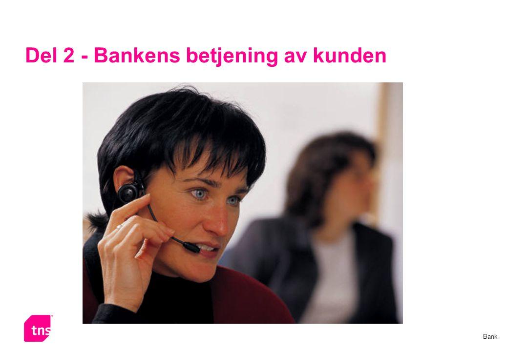 Side 10 Hvor mange bankkunder er betjent av en fast kontaktperson? % Bank