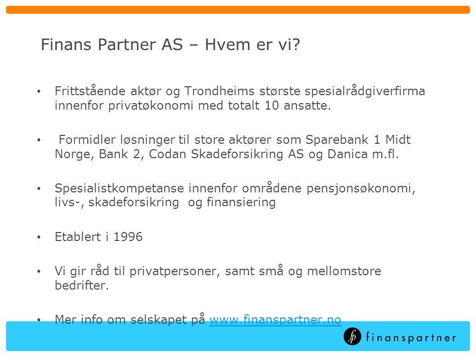 Finans Partner AS – Hva kan vi bistå med.