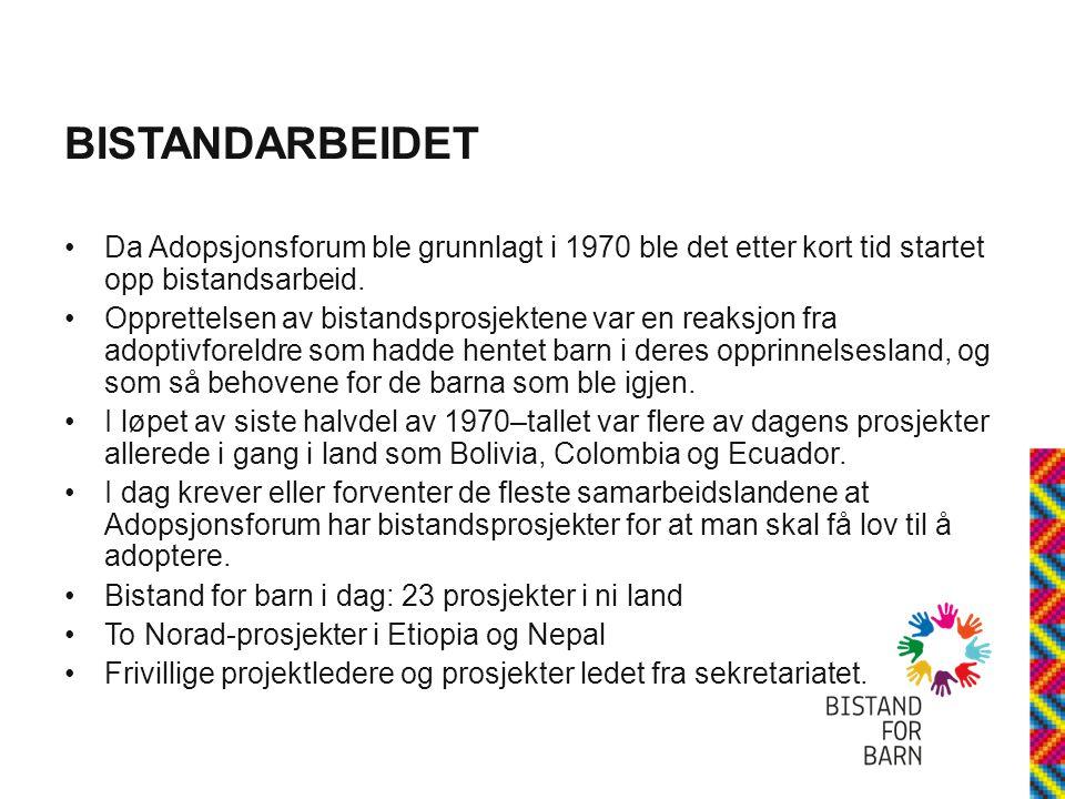 BISTANDARBEIDET •2.6 millioner overført til prosjekter i utlandet i 2011.