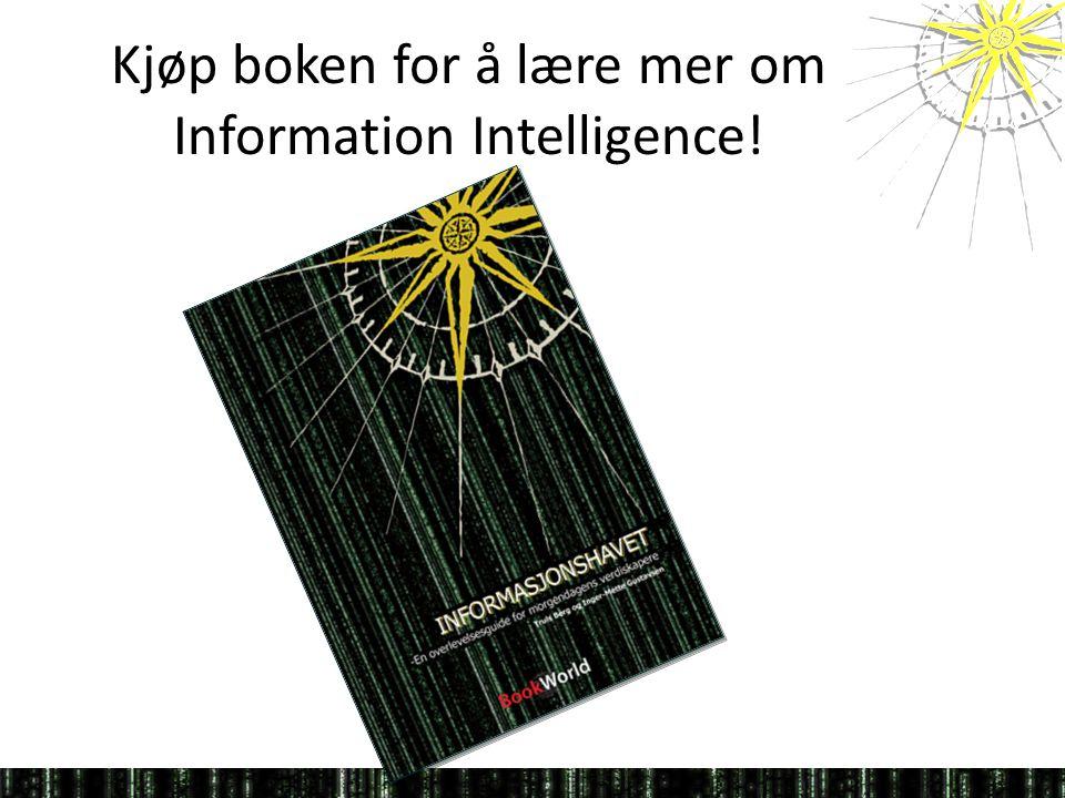 Kjøp boken for å lære mer om Information Intelligence!