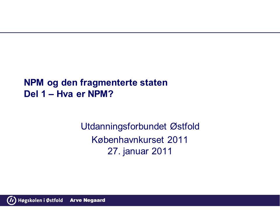 Arve Negaard NPM og den fragmenterte staten Del 1 – Hva er NPM.