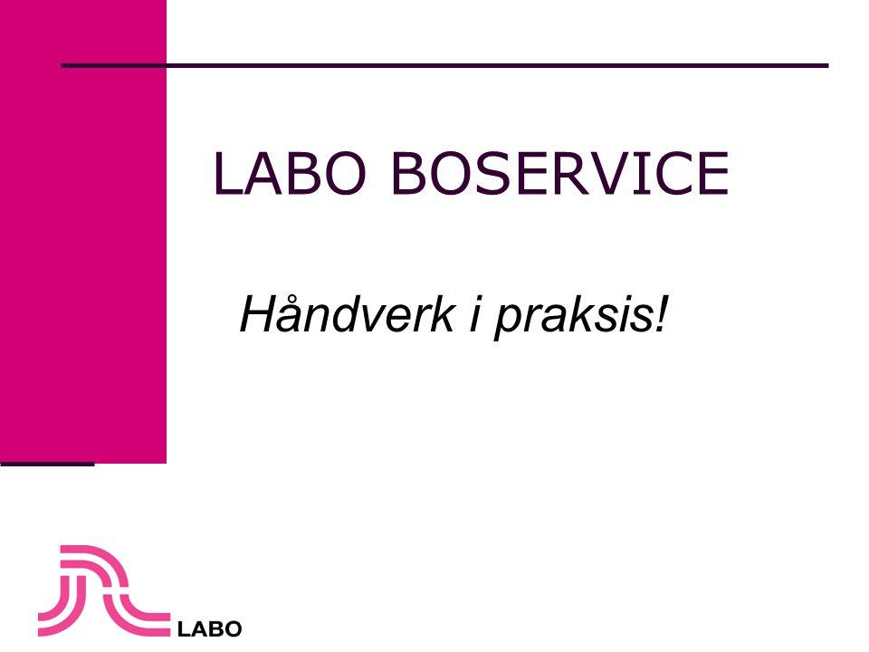 LABO BOSERVICE Håndverk i praksis!