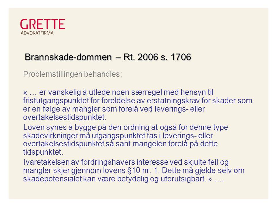 Brannskade-dommen – Rt.2006 s.