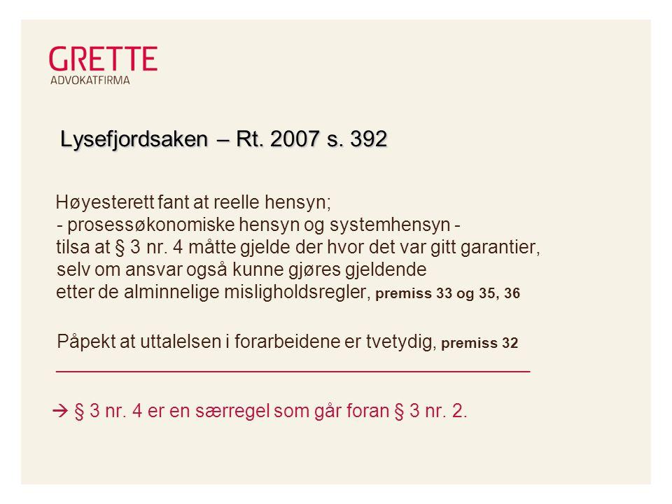 Lysefjordsaken – Rt.2007 s.