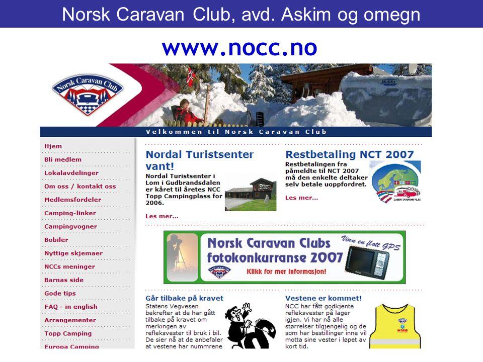 www.nocc.no Norsk Caravan Club, avd. Askim og omegn