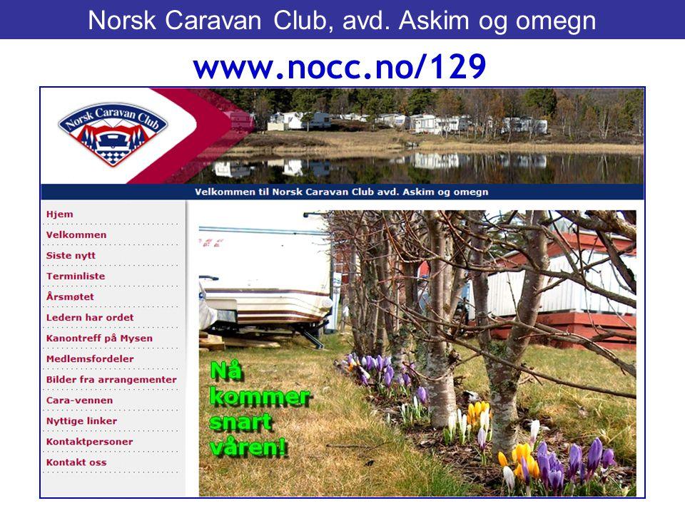 www.nocc.no/129 Norsk Caravan Club, avd. Askim og omegn