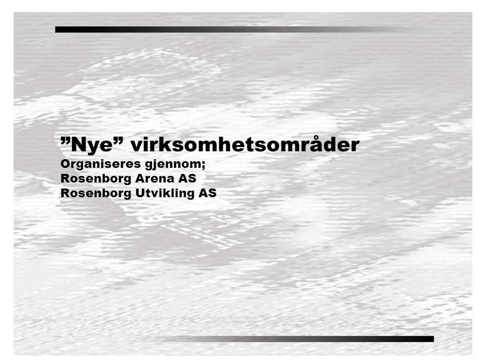 Nye virksomhetsområder Organiseres gjennom; Rosenborg Arena AS Rosenborg Utvikling AS