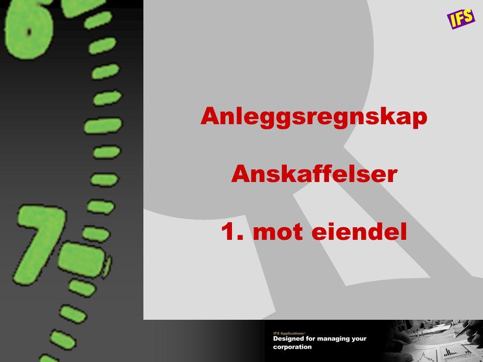 7 IFS Økonomi - Oversikt - IFS/Regnskap IFS/Konteringsregler IFS/Kundeordre Betalings- formidling Betalings- formidling IFS/Innkjøp Kunde Leverandør Likviditet Øvrige IFS Applications Eksterne sys./ grensesnitt Eksterne sys./ grensesnitt Hovedbok IFS/Konsoli- dering IFS/Konsoli- dering IFS/Anleggs- regnskap IFS/Anleggs- regnskap Spørring/ rapportering Spørring/ rapportering Budsjett IFS/Rapport- generator IFS/Rapport- generator Prosjekt- regnskap Prosjekt- regnskap Periodisk kostn.