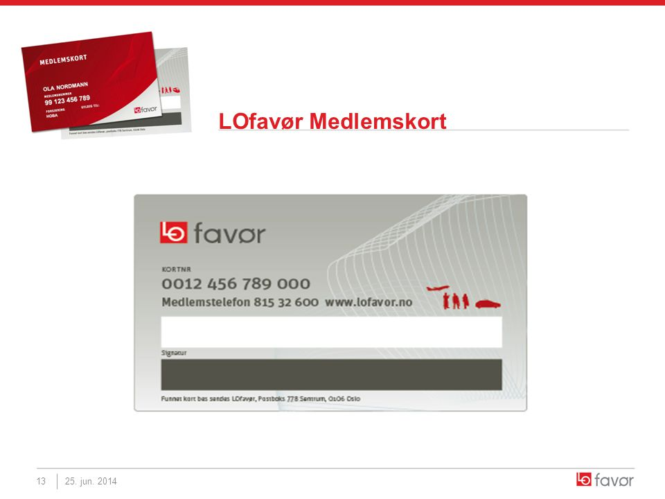 LOfavør Medlemskort 25. jun. 201413