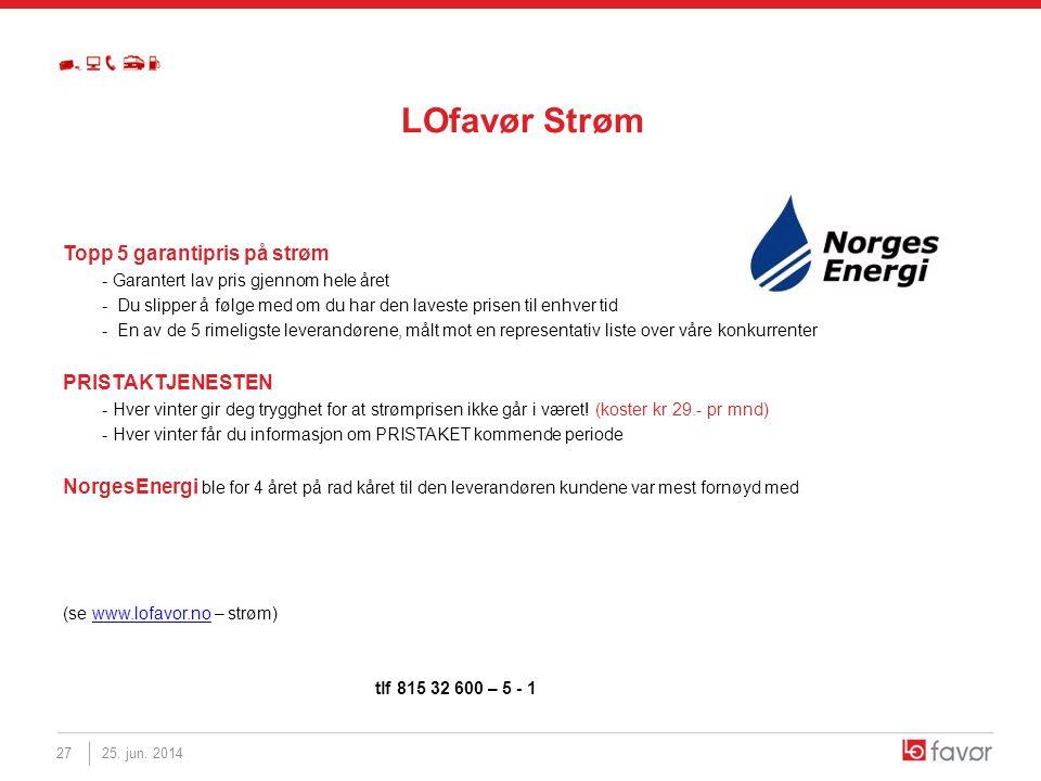 LOfavør Strøm Topp 5 garantipris på strøm - Garantert lav pris gjennom hele året - Du slipper å følge med om du har den laveste prisen til enhver tid