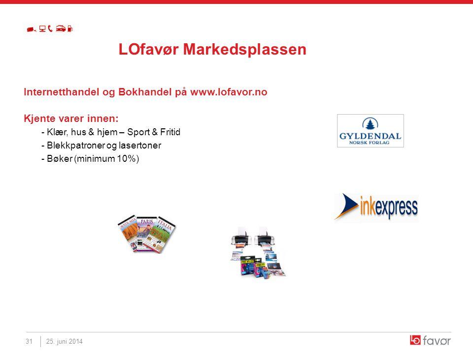 Internetthandel og Bokhandel på www.lofavor.no Kjente varer innen: - Klær, hus & hjem – Sport & Fritid - Blekkpatroner og lasertoner - Bøker (minimum