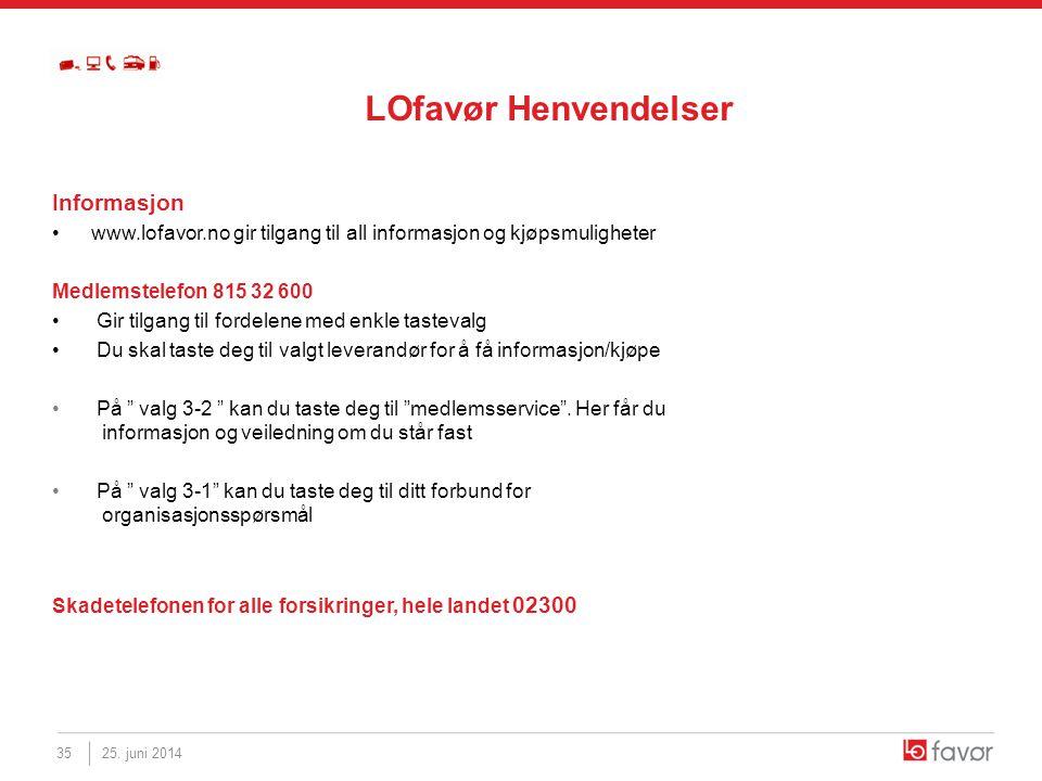 Informasjon •www.lofavor.no gir tilgang til all informasjon og kjøpsmuligheter Medlemstelefon 815 32 600 • Gir tilgang til fordelene med enkle tasteva