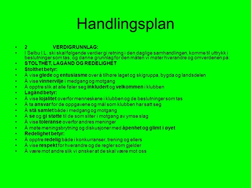 Handlingsplan •2 VERDIGRUNNLAG: •I Selbu I.L.