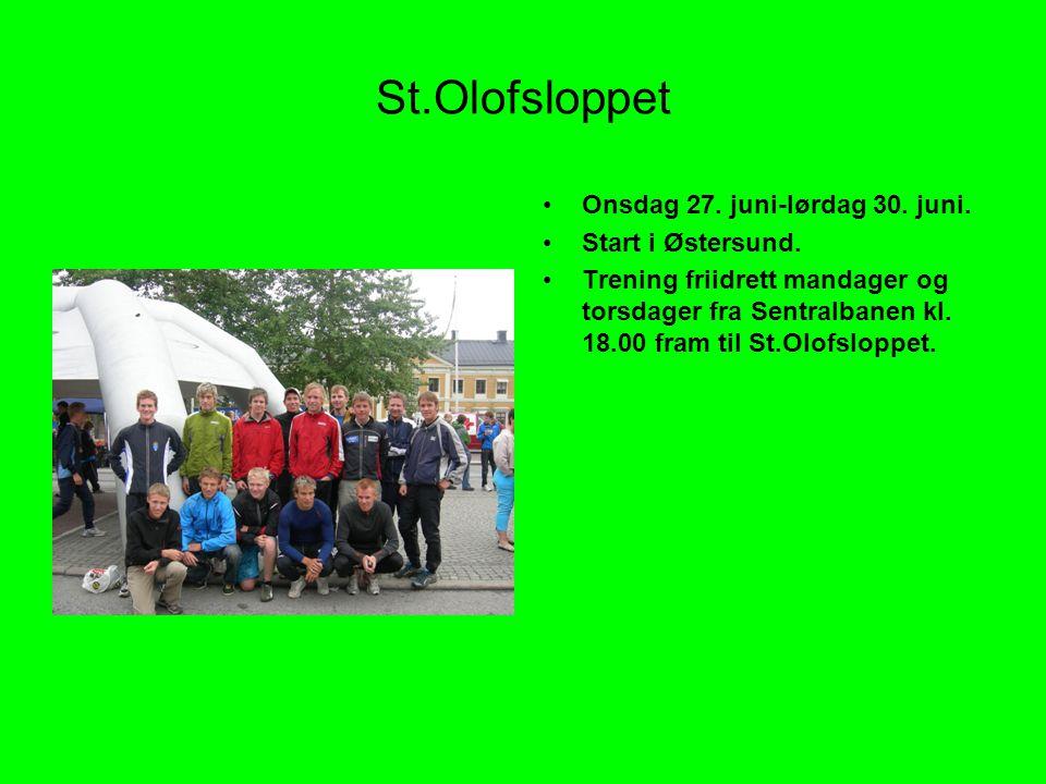 St.Olofsloppet •Onsdag 27.juni-lørdag 30. juni. •Start i Østersund.