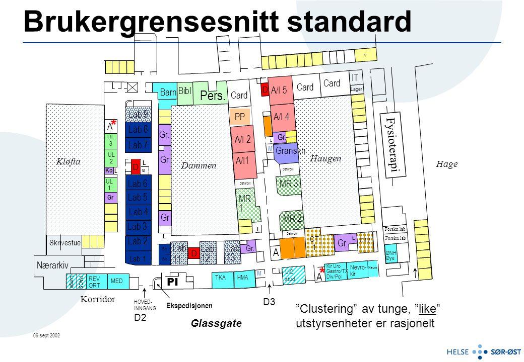 Brukergrensesnitt eksempel Siemens Nevrostar 2 GE advantix