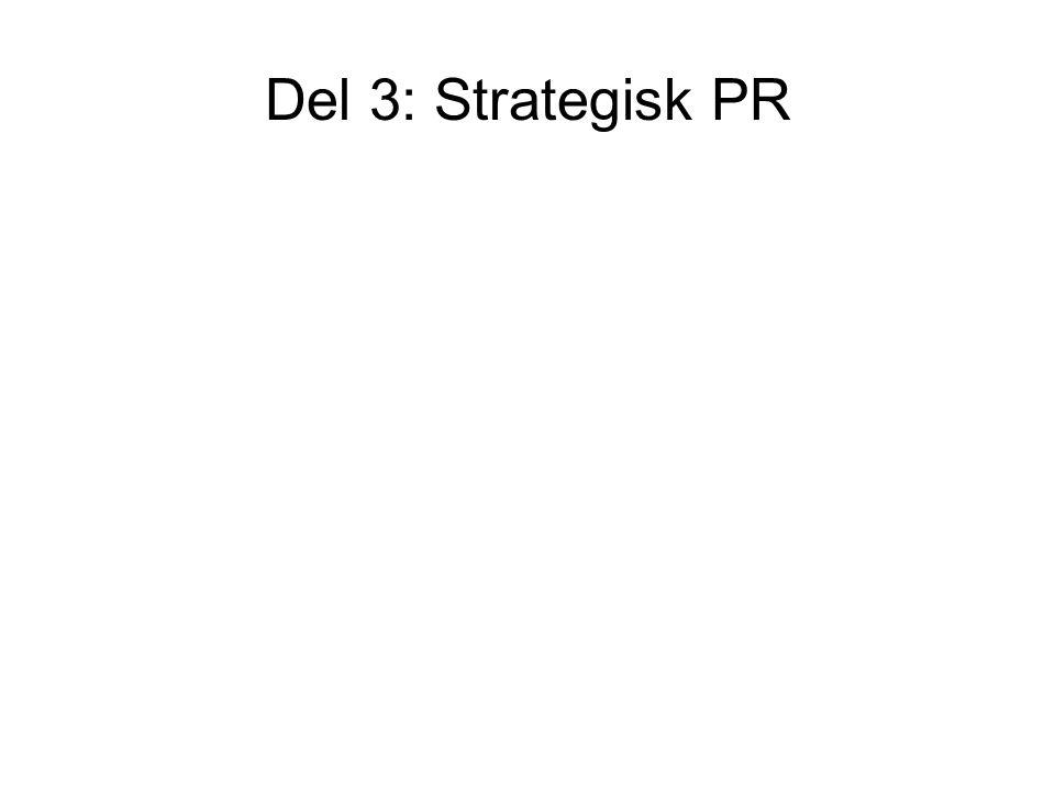 Del 3: Strategisk PR