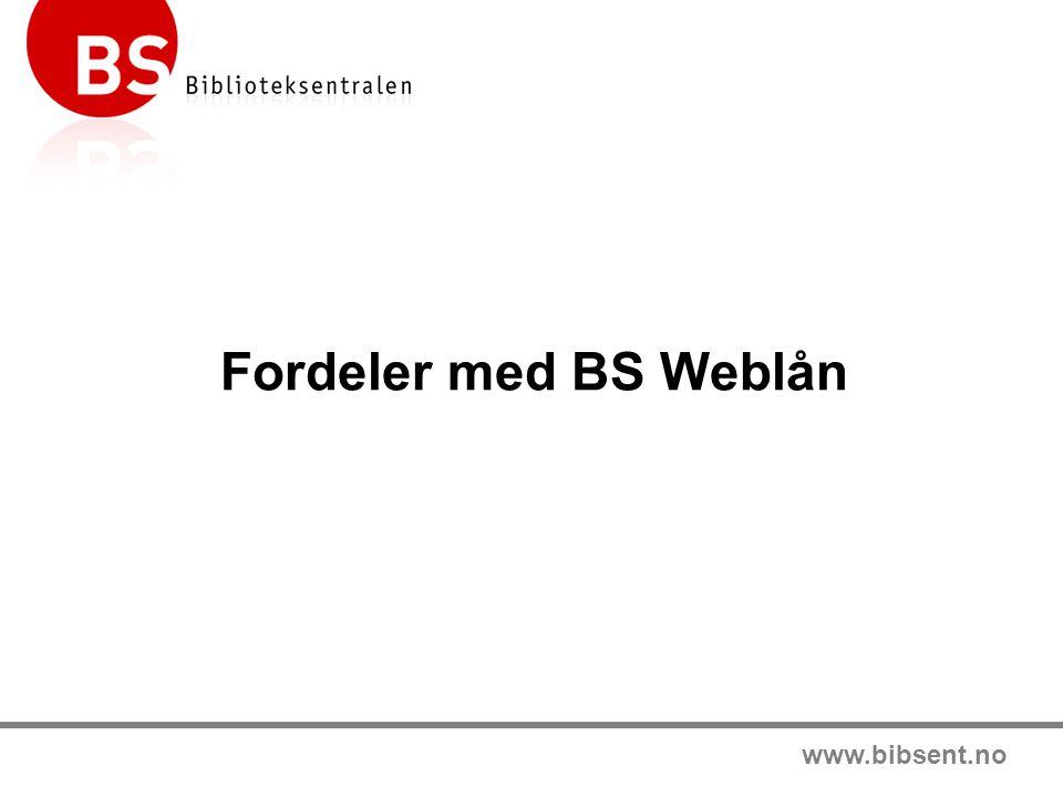www.bibsent.no Biblioteksentralen skal utvikle bedre biblioteker i Norge og gi dem en enklere og bedre hverdag!