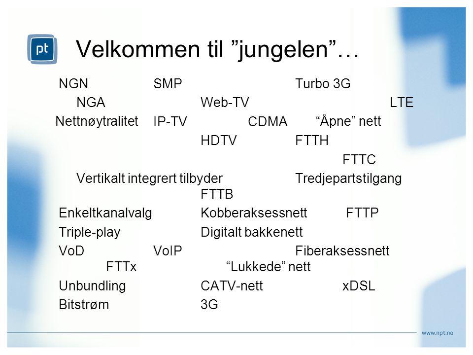 NGNSMPTurbo 3G NGA Web-TVLTE IP-TV CDMA HDTVFTTH FTTC Vertikalt integrert tilbyderTredjepartstilgang FTTB EnkeltkanalvalgKobberaksessnett FTTP Triple-