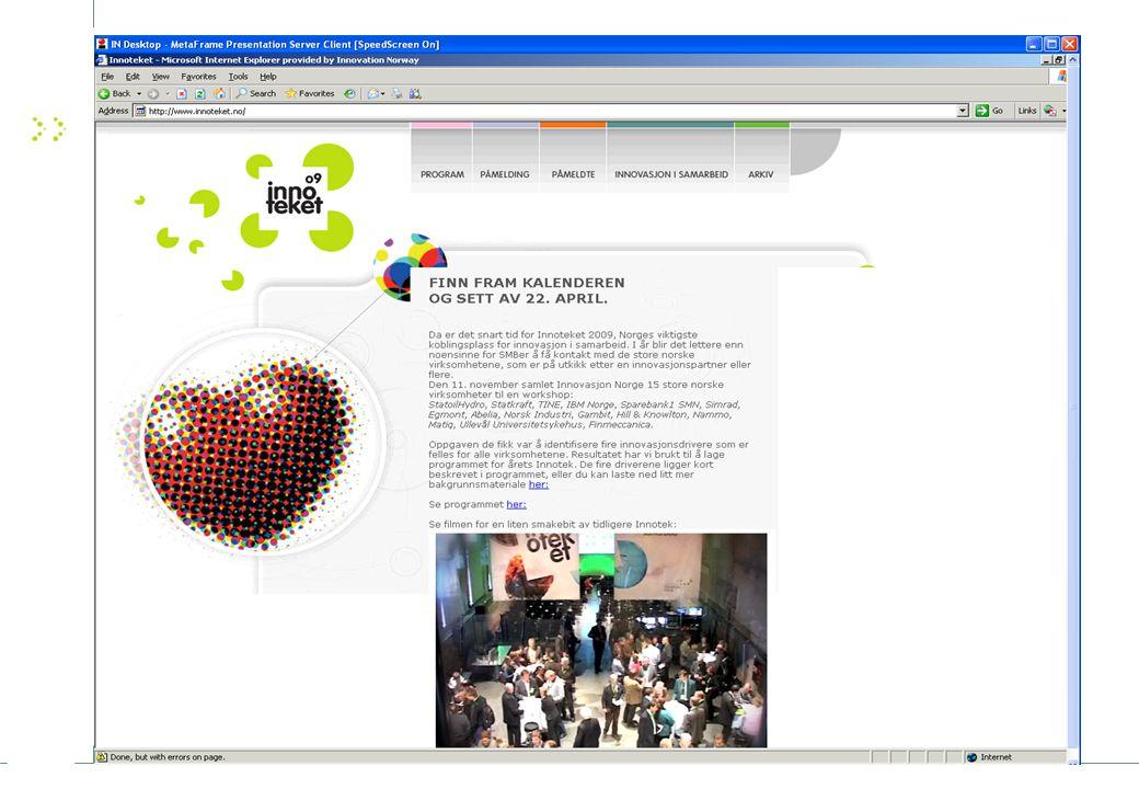 25 Web-sider OFU/IFU OFU/IFU http://www.innovasjonnorge.no/fou Norbiobase - Database over leverandører til helse og biomed sektoren http://www.norbiobase.no/ Takk for oppmerksomheten!