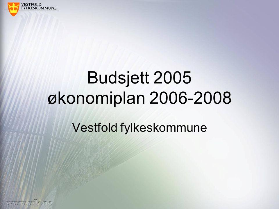 Budsjett 2005 økonomiplan 2006-2008 Vestfold fylkeskommune