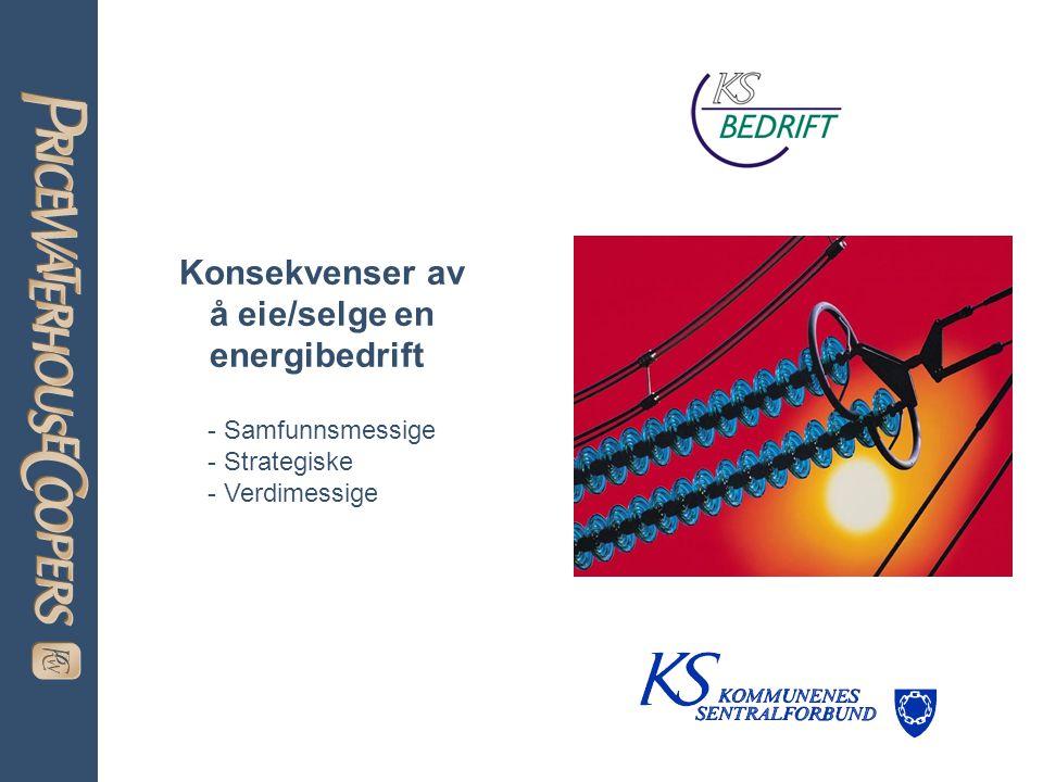 Konsekvenser av å eie/selge en energibedrift - Samfunnsmessige - Strategiske - Verdimessige