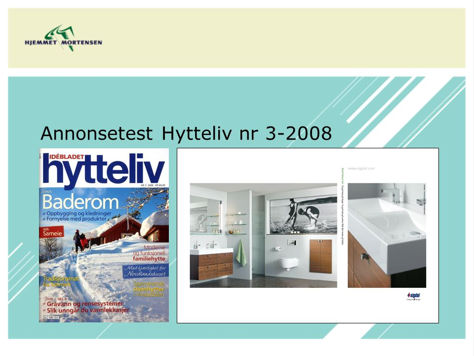Annonsetest Hytteliv nr 3-2008