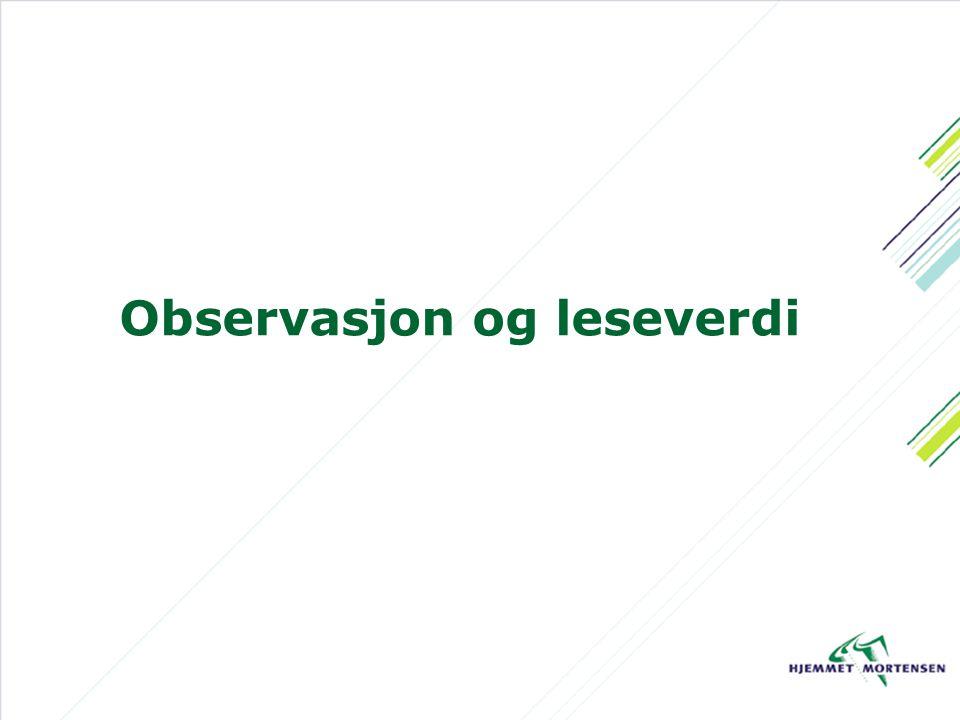 Observasjon og leseverdi