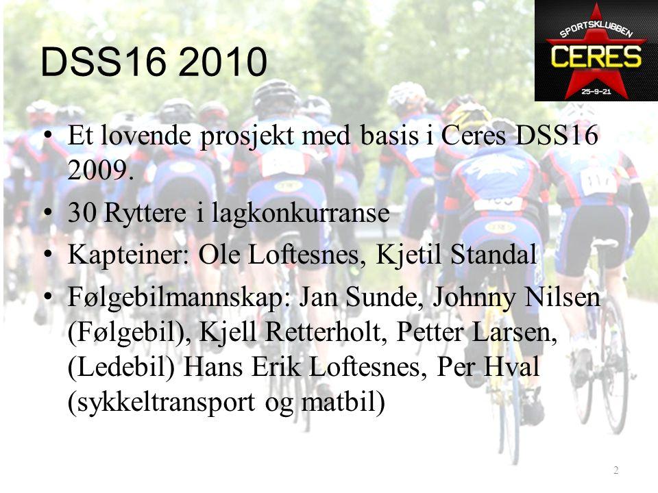 DSS16 2010 • Et lovende prosjekt med basis i Ceres DSS16 2009.