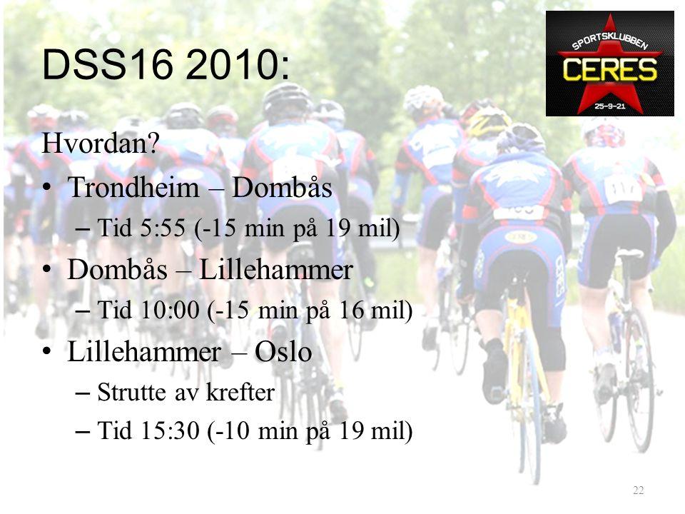 DSS16 2010: Hvor står vi? – 2009: 25 ryttere, ca15 arbeidsjern – 2010: 30 kvalifiserte, bare arbeidsjern !/? • Prestasjoner – Enebakk – Nordmarka – Ra
