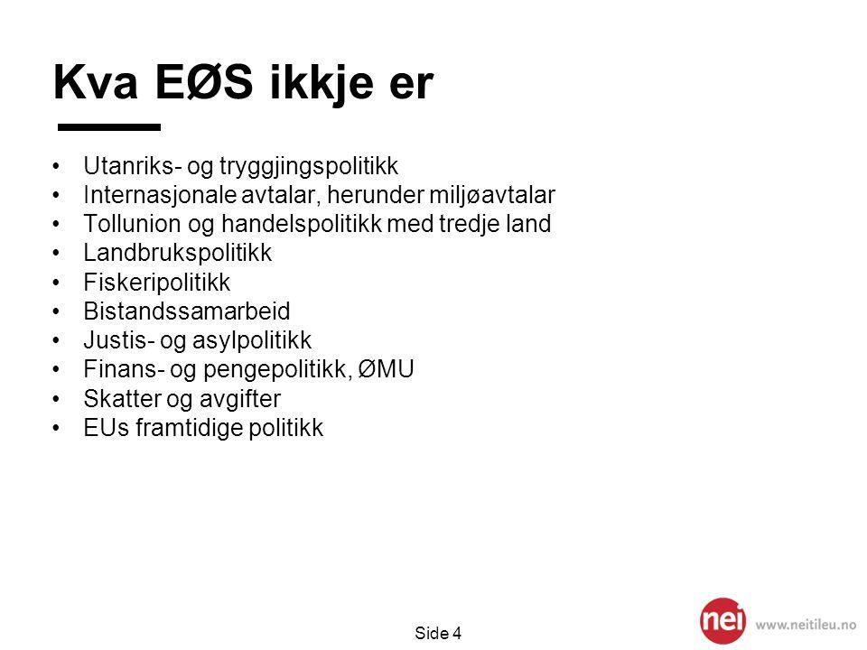 Side 5 Direktiv vedtekne i EU vs Noreg Ny lovgjeving vedteke i EU (blått) og EØS (svart) i åra 2003-2007.