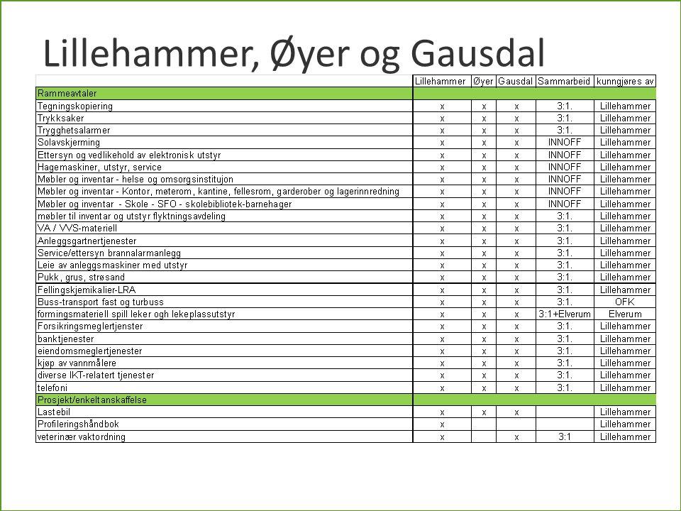 Kommende kjøp i Oppland fylkeskommune Inger Lise Høvik Honne, 21.5.2013